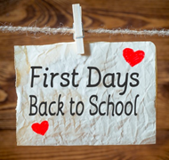 First Days Back to School Note