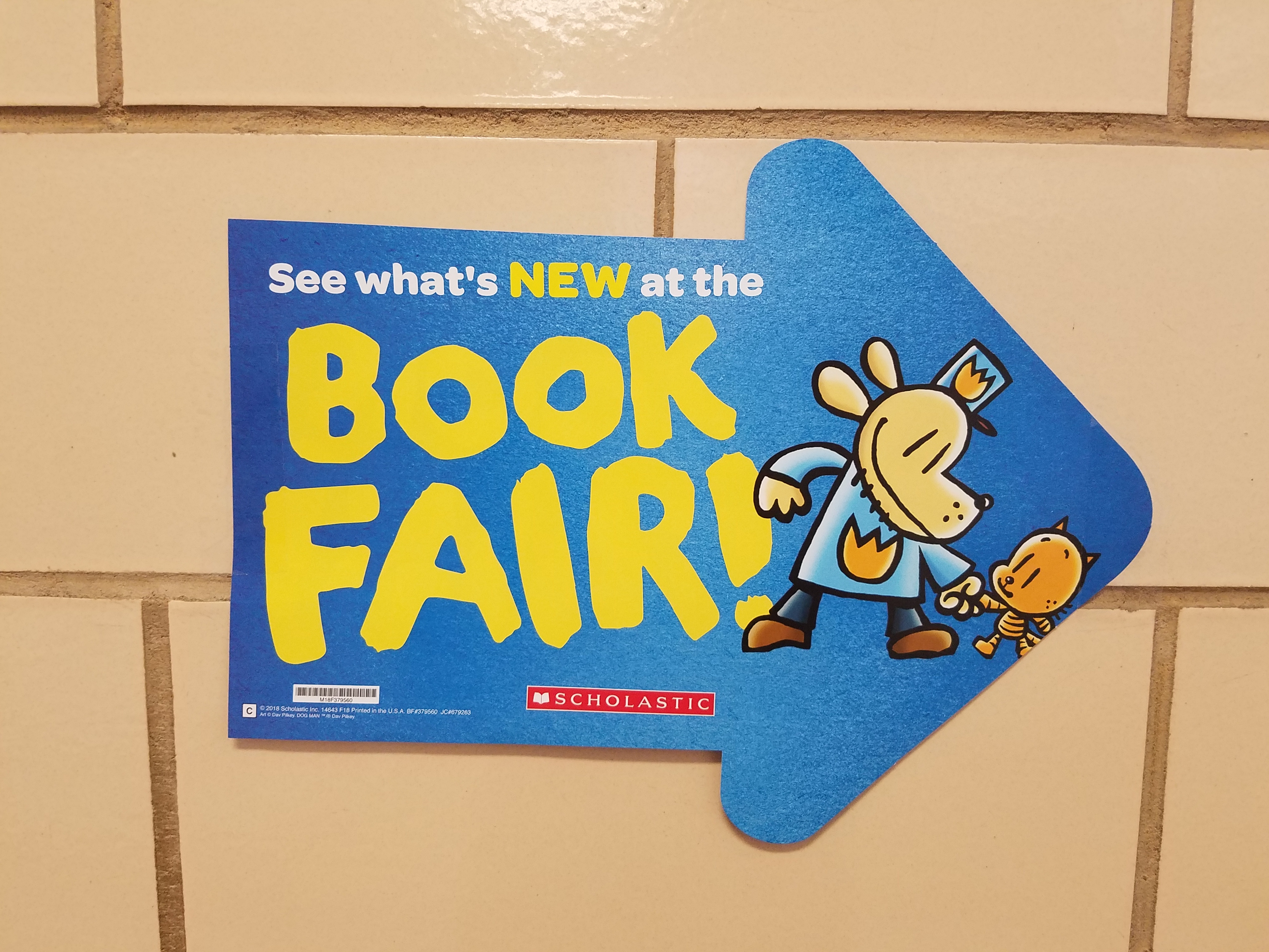 Book Fair will be the week of April 22, from 9:15 am to 3:00 pm daily.