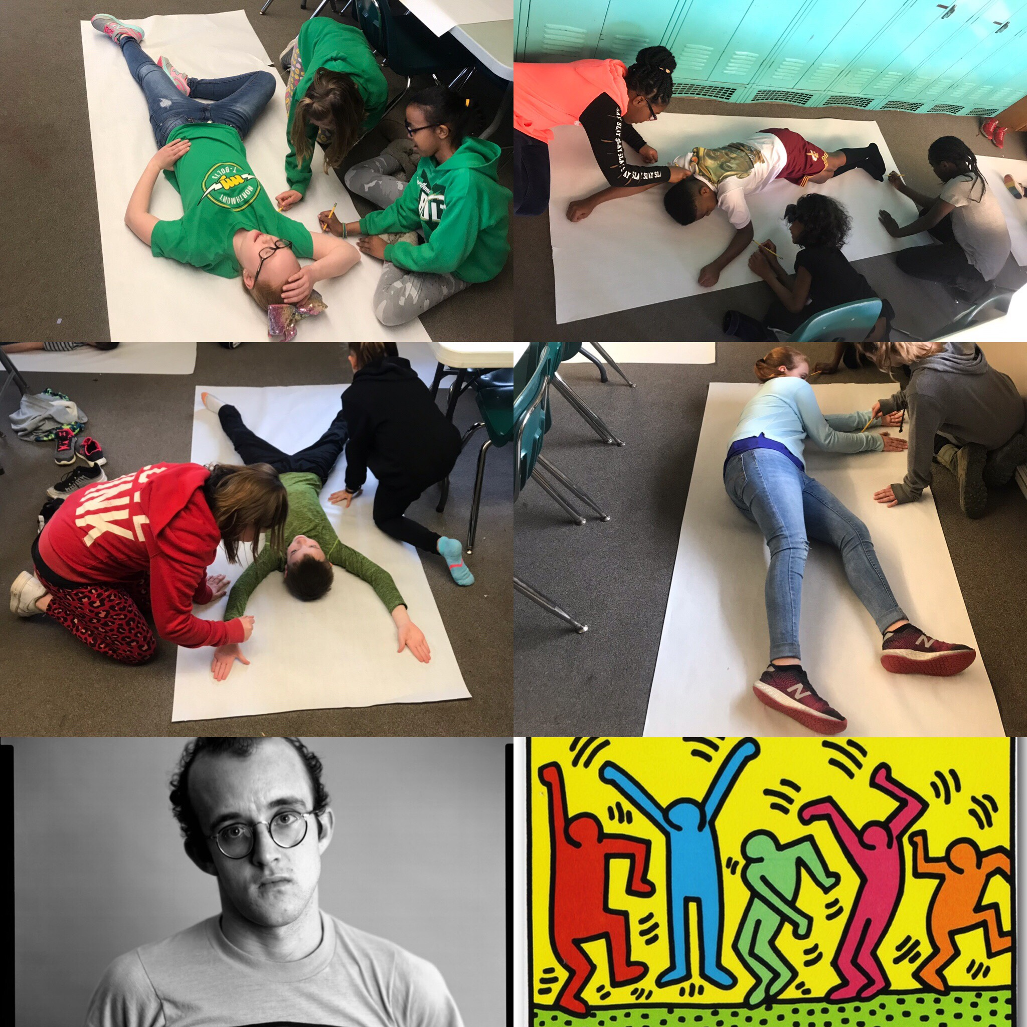 4th Gr. Keith Haring Project