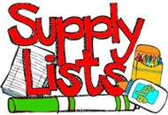 Updated School Supply List