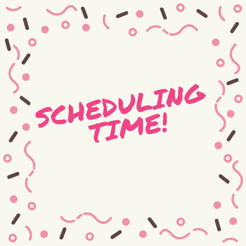 Scheduling Time graphic