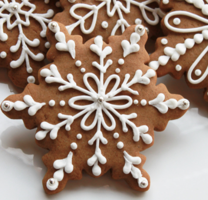 Snowflake cookies sound good for a party.